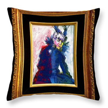 Throw Pillow featuring the painting Mamie by Les Leffingwell