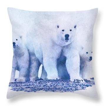 Throw Pillow featuring the painting Mamma Bear  by Mark Taylor