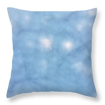 Mammatus Clouds Forming Throw Pillow by Angela A Stanton
