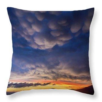 Mammatus Throw Pillow