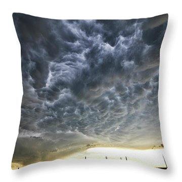 Mammatus Over Nebraska Throw Pillow