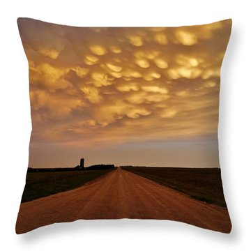 Mammatus Road Throw Pillow
