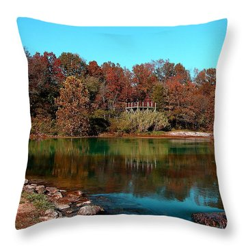 Throw Pillow featuring the photograph Mammoth Springs by Rick Friedle