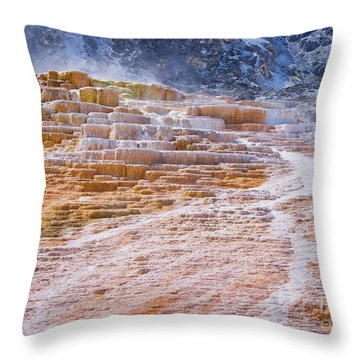 Mammoth Terraces Of Yellowstone Throw Pillow