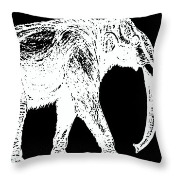 Mammoth White Ink Tee Throw Pillow