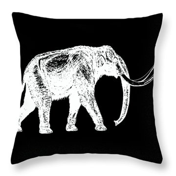 Mammoth White Ink Tee Throw Pillow by Edward Fielding