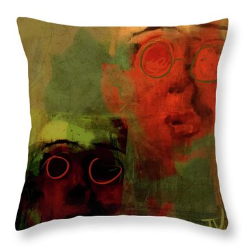 Throw Pillow featuring the digital art Man And Best Friend by Jim Vance
