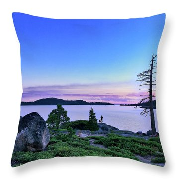 Throw Pillow featuring the photograph Man And Dog by Jim Thompson