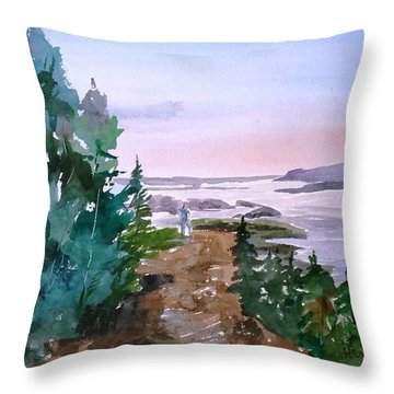 Man At Fraser Lake Bc Throw Pillow