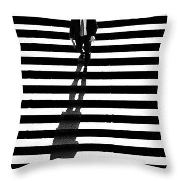 Man Bethesda Steps Throw Pillow