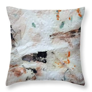Man Chased By Mountain Lion Throw Pillow