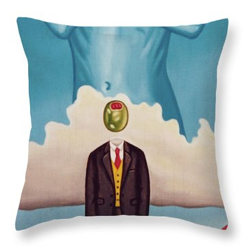 Man Dreaming Of Woman Throw Pillow