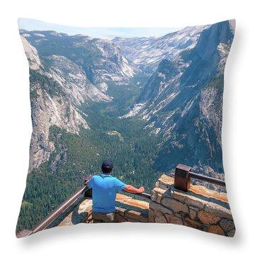 Man In Awe- Throw Pillow