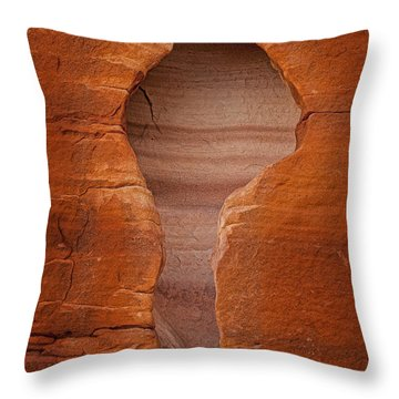 Man In Rock Throw Pillow by Kelley King