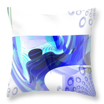 Man In The Air Throw Pillow by Thibault Toussaint