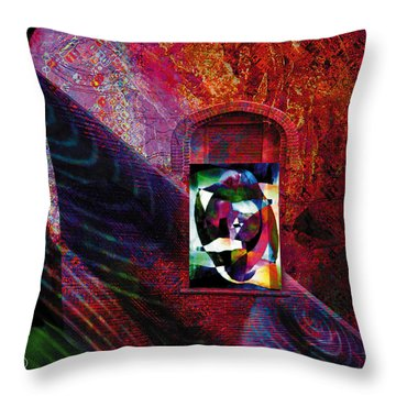 Man In The Moon Throw Pillow by David Derr