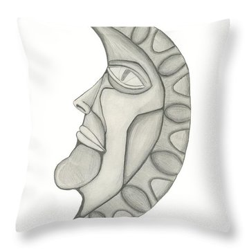 Man In The Moon Throw Pillow by Sara Stevenson