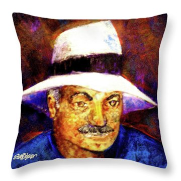 Man In The Panama Hat Throw Pillow