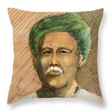 Man In Turban Throw Pillow