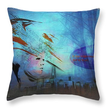 Man Is Art Throw Pillow