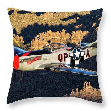 Man O War 1 Throw Pillow