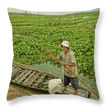 Man Of Daily Life Throw Pillow