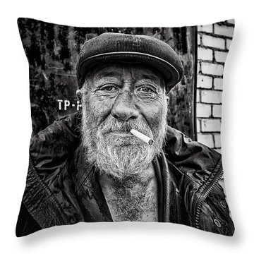 Throw Pillow featuring the photograph Man Of Freedom by John Williams