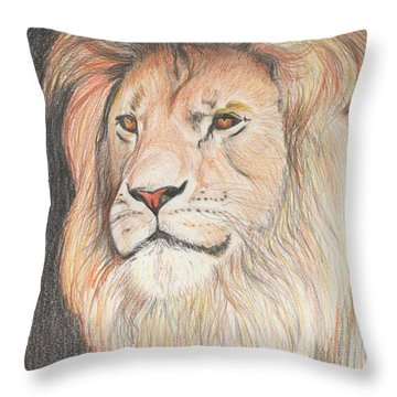 Man Of His Pride Throw Pillow