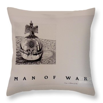 Man Of War Throw Pillow