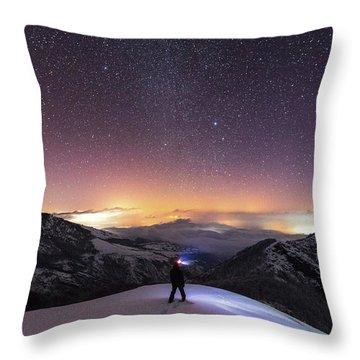 Man On Mars Throw Pillow by Evgeni Dinev