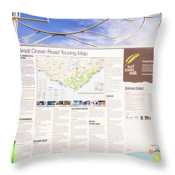 Man Sightseeing The Great Ocean Road Throw Pillow