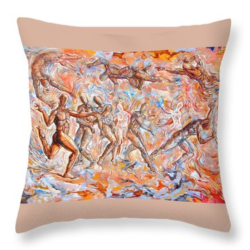Man Unaware Of His Own Karma Throw Pillow by Darwin Leon
