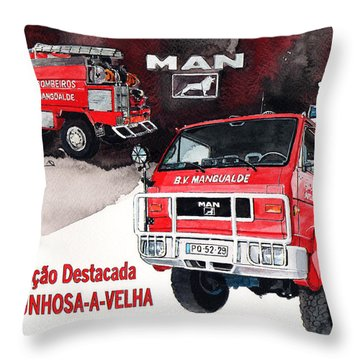 Man-vw 4x4 Fire Engine Throw Pillow
