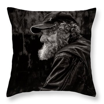 Man With A Beard Throw Pillow