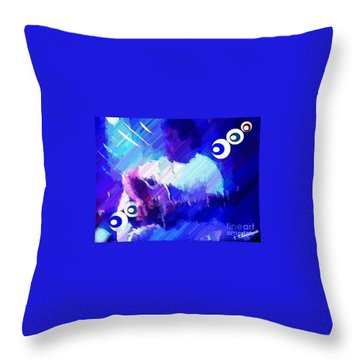 Man With A Guitar Throw Pillow