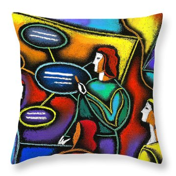Throw Pillow featuring the painting Manager  by Leon Zernitsky
