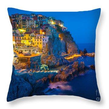 Manarola By Night Throw Pillow