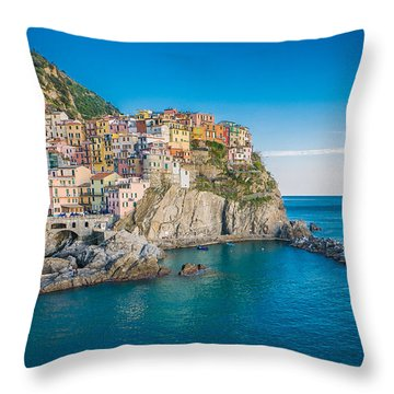 Manarola - Cinque Terre Throw Pillow
