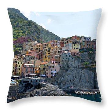 Manarola Throw Pillow by Corinne Rhode