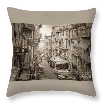Manarola In Sepia Throw Pillow