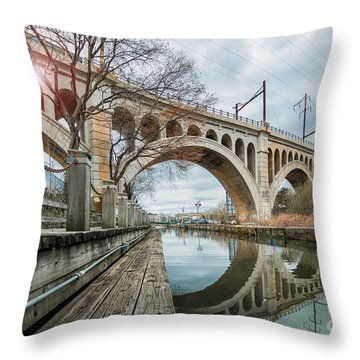 Manayunk Bridge Throw Pillow