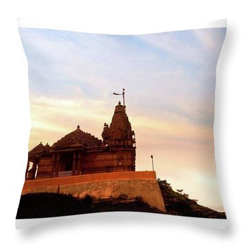 Manbhavan Tekri Throw Pillow