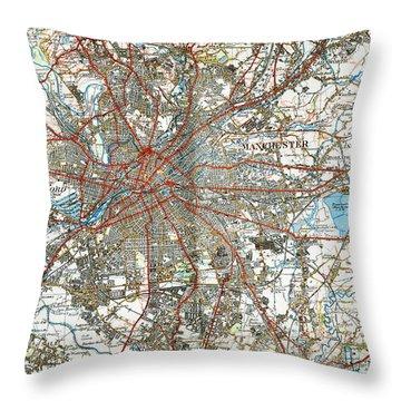 Manchester England 1924 Throw Pillow