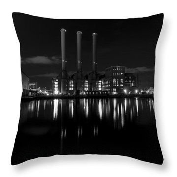 Manchester Street Power Station Throw Pillow
