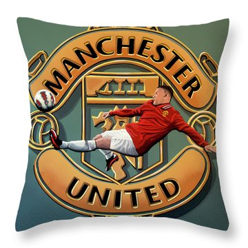 Manchester United Painting Throw Pillow