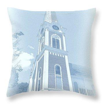 Manchester Vt Church Throw Pillow