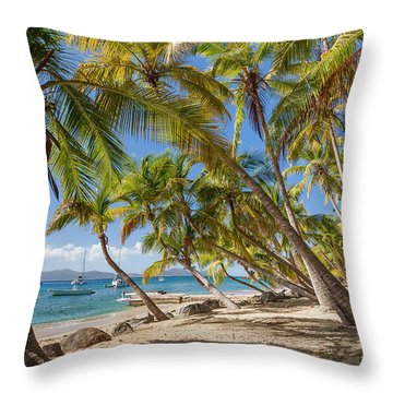 Throw Pillow featuring the photograph Manchioneel Bay, Cooper Island by Adam Romanowicz