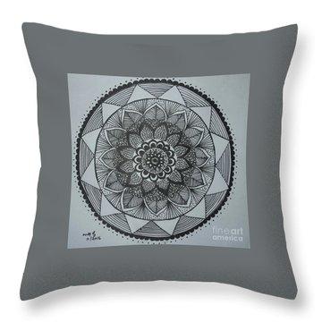 Mandal Throw Pillow by Usha Rai