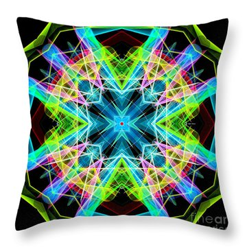 Throw Pillow featuring the digital art Mandala 3308a  by Rafael Salazar