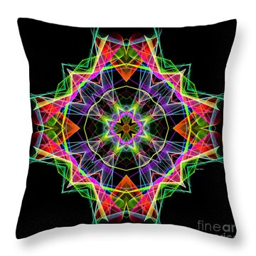 Throw Pillow featuring the digital art Mandala 3324a by Rafael Salazar